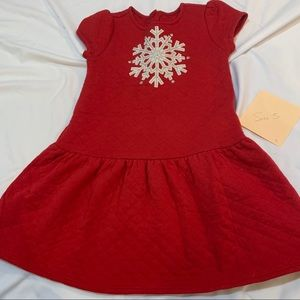 Gymboree Christmas holiday snowflake dress size 5t